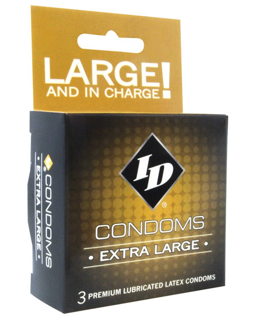 Id Extra Large Condoms - Box Of 3 - Casual Toys