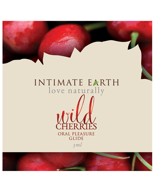 Intimate Earth Lubricant Foil - 3 Ml Wild Cherries - Casual Toys