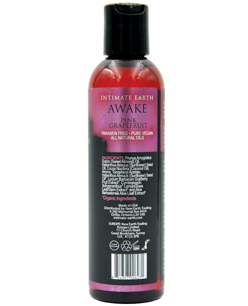 Intimate Earth Awake Massage Oil - 120 Ml Black Pepper & Pink Grapefruit - Casual Toys