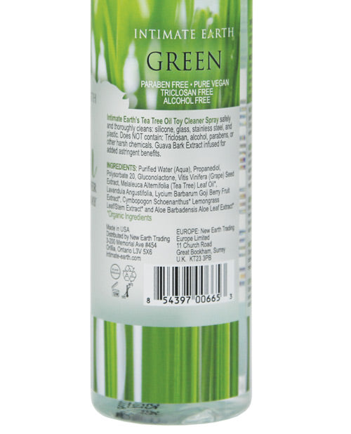 Intimate Earth Toy Cleaner Spray - 4.2 Oz Green Tea Tree Oil - Casual Toys