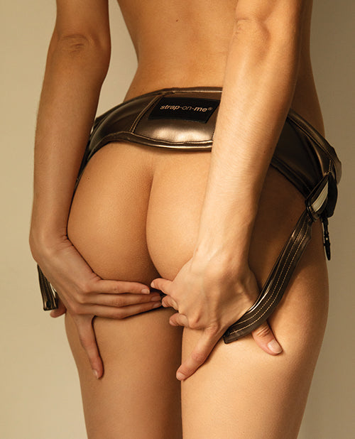 Strap On Me Leatherette Harness Desirous - Bronze O-s - Casual Toys
