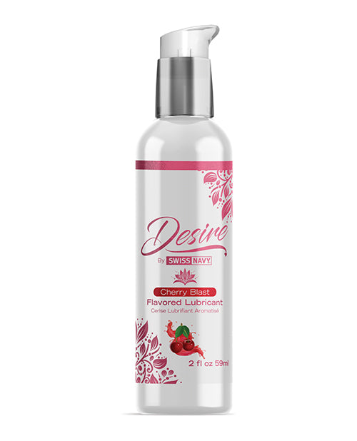 Swiss Navy Desire Cherry Blast Flavored Lubricant - 2 Oz - Casual Toys