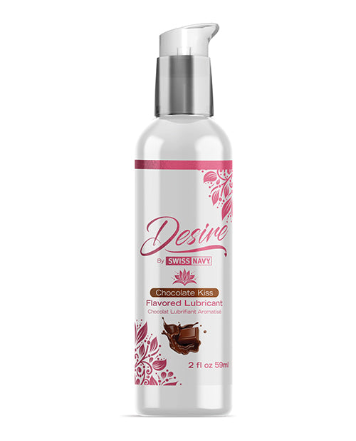 Swiss Navy Desire Chocolate Kiss Flavored Lubricant - 2 Oz - Casual Toys