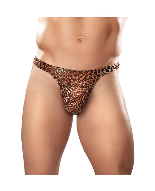 Male Power Wonder Thong Animal Print S/m - Casual Toys
