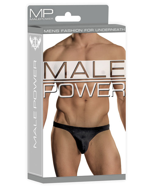 Male Power Bong Thong Black S/m - Casual Toys