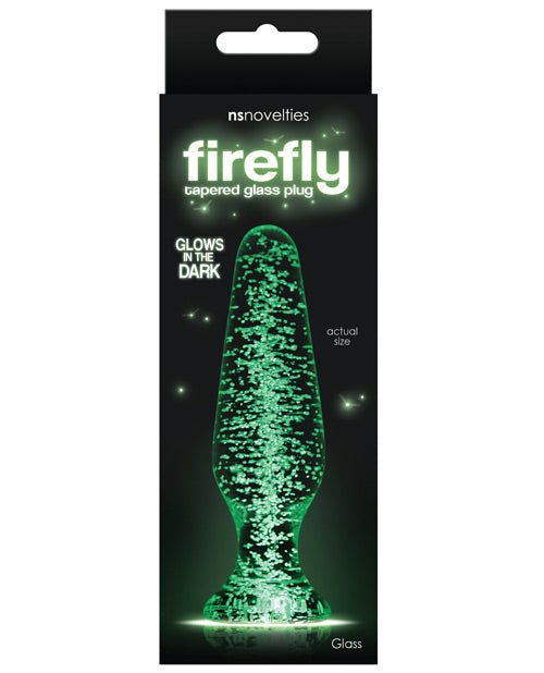 Firefly Clear Glass Plug Tapered - Glow - Casual Toys