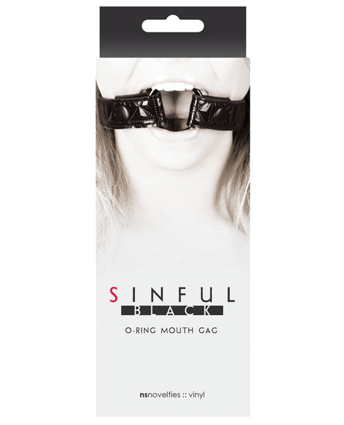 Sinful O Ring Mouth Gag - Black - Casual Toys