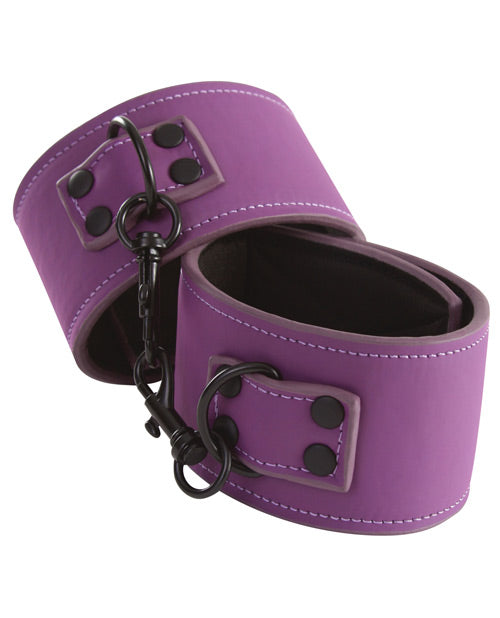 Lust Bondage Ankle Cuffs - Purple - Casual Toys