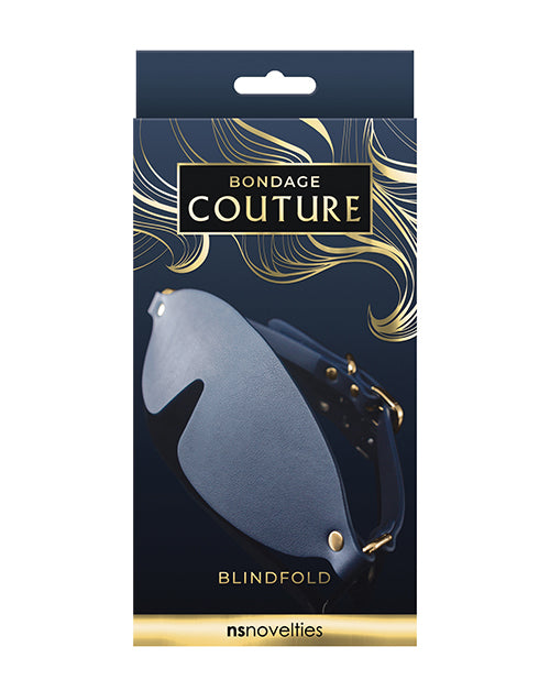 Bondage Couture Vinyl Blind Fold - Blue - Casual Toys