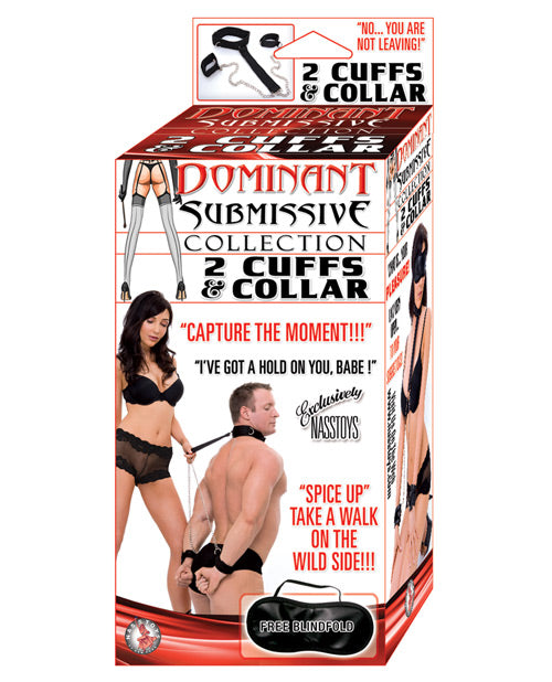 Dominant Submissive Collection 2 Cuffs & A Collar - Casual Toys