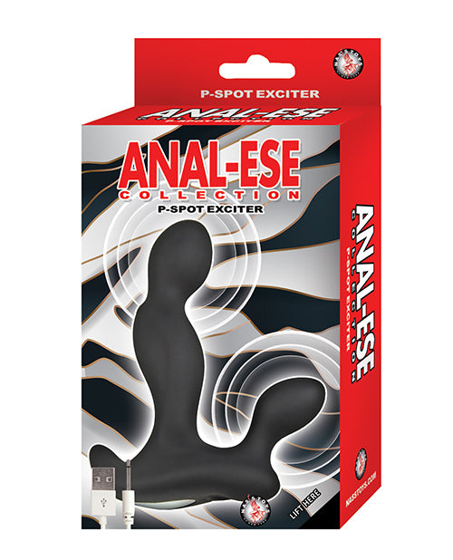 Anal-ese Collection P-spot Exciter - Black - Casual Toys