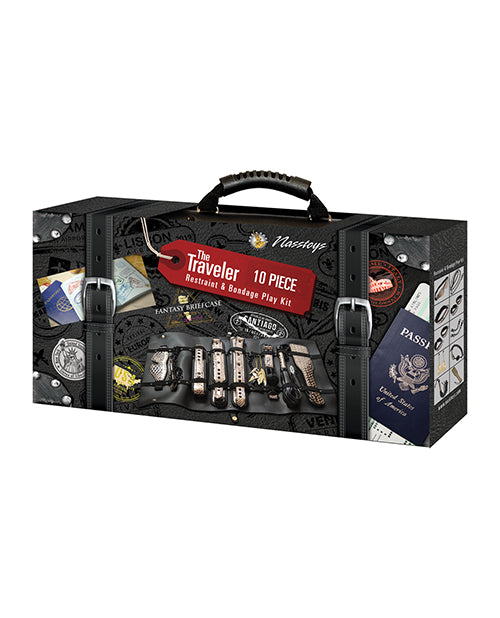 The Ultimate Fantasy Travel Briefcase Restraint & Bondage Play Kit - Casual Toys