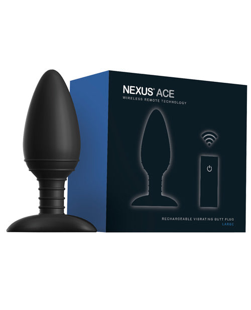 Nexus Ace Remote Control Butt Plug Large - Black