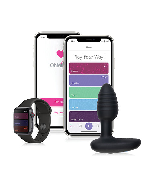 Ohmibod Lumen Led Pleasure Plug - Black - Casual Toys