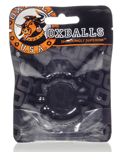 Oxballs Atomic Jock 6-pack Shaped Cockring - Clear - Casual Toys
