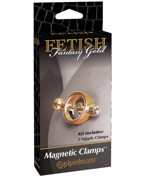 Fetish Fantasy Gold Magnetic Nipple Clamps - Gold