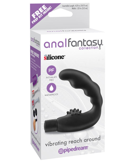 Anal Fantasy Collection Vibrating Reach Around - Black - Casual Toys
