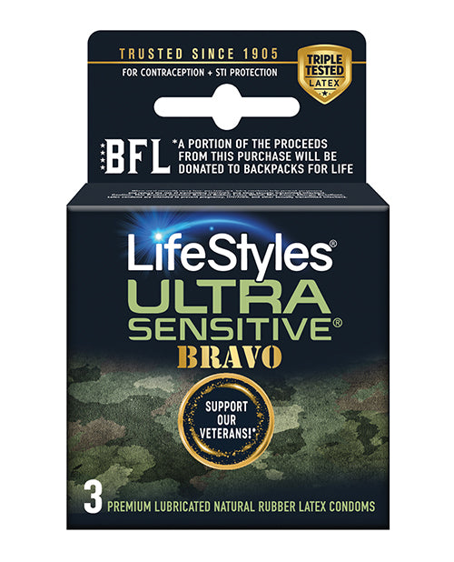 Lifestyles Ultra Sensitive Bravo - Pack Of 3 - Casual Toys