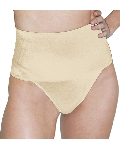 Rago Shapewear Soft Wide Band Thong Shaper Mocha Lg - Casual Toys