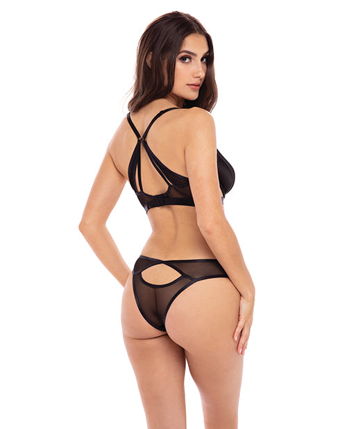 Rene Rofe New In Town Bra & Panty Black - Casual Toys