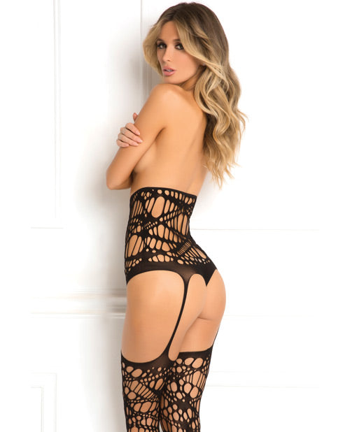 Rene Rofe Topless Bodystocking Black O-s