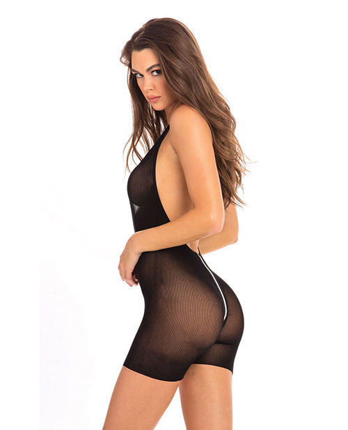 Rene Rofe Hot Short Zip Bodysuit Black - Casual Toys