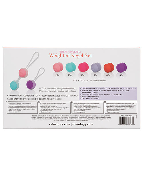 She-ology Interchangeable Weighted Kegel Set