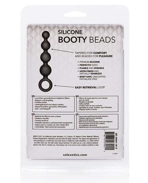 Calexotics Silicone Booty Beads - Black - Casual Toys