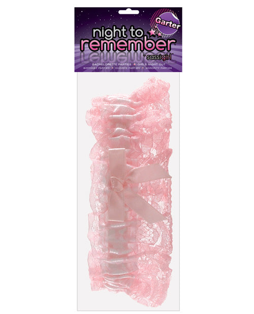 Night To Remember Garter By Sassigirl - Pink - Casual Toys