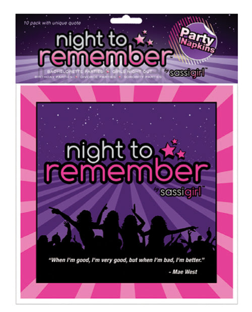 "Night To Remember Standard 6.5"" Napkins - Purlpe Pack Of 10 By Sassigirl - Casual Toys"