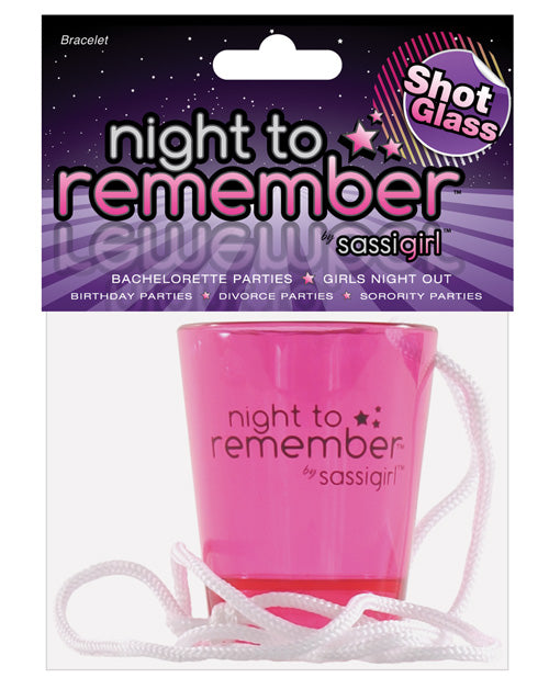 Night To Remember Shot Glass Necklace By Sassigirl - Casual Toys