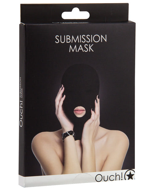 Shots Ouch Submission Mask - Black - Casual Toys