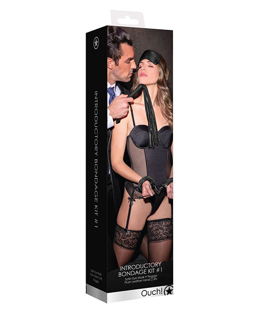 Shots Ouch Introductory Bondage Kit - Black - Casual Toys