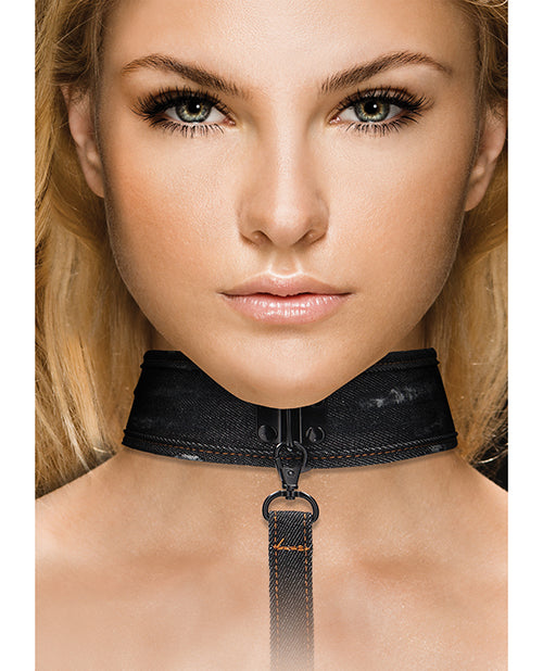 Shots Ouch Denim Collar W/leash - Casual Toys