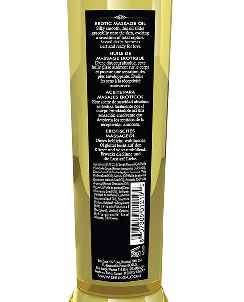 Shunga Massage Oil - 8 Oz Midnight Flower - Casual Toys