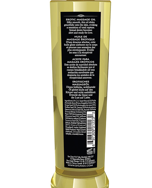 Shunga Massage Oil - 8 Oz Sweet Lotus - Casual Toys