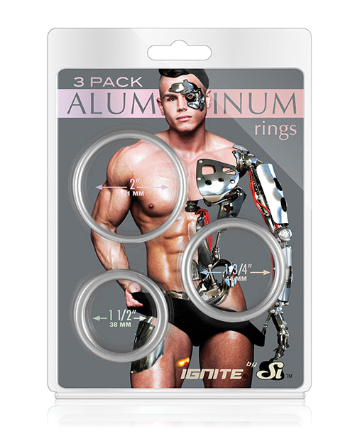 Aluminum Rings - Platinum Pack Of 3 - Casual Toys