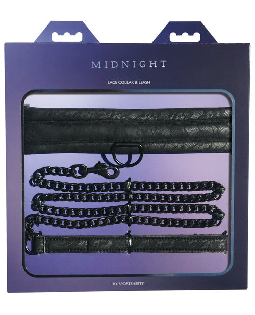 Sincerely Lace Collar & Leash - Black - Casual Toys