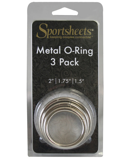 Sportsheets Metal O Ring - Pack Of 3 - Casual Toys