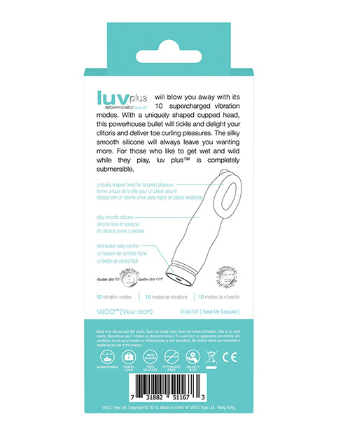 Vedo Luv Plus Rechargeable Vibe - Into You Indigo - Casual Toys