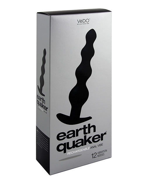 Vedo Earth Quaker Anal Vibe - Just Black - Casual Toys