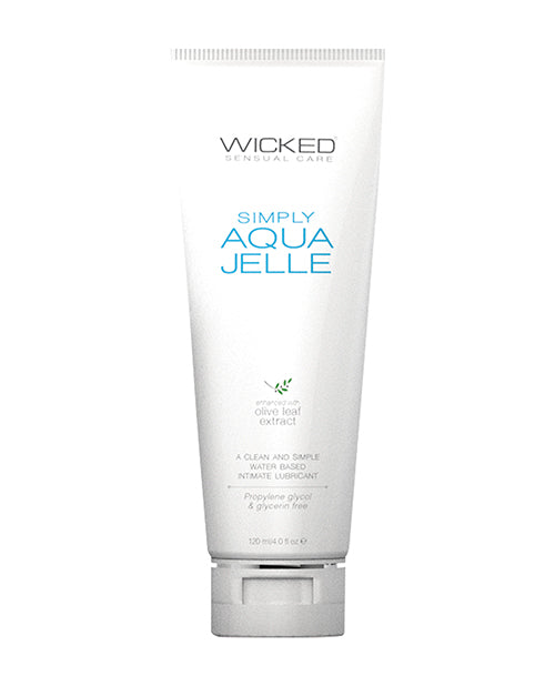 Wicked Sensual Care Simply Aqua Jelle Water Based Lubricant - Oz Fragrance Free