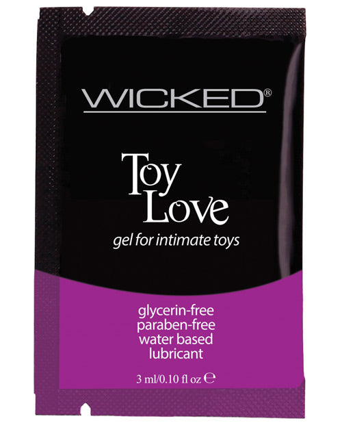 Wicked Sensual Care Toy Love Water Based Lubricant - .1 Oz Fragrance Free - Casual Toys