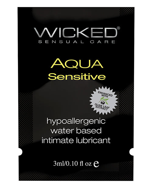 Wicked Sensual Care Hypoallergenic Aqua Sensative Water Based Lubericant - .1 Oz - Casual Toys