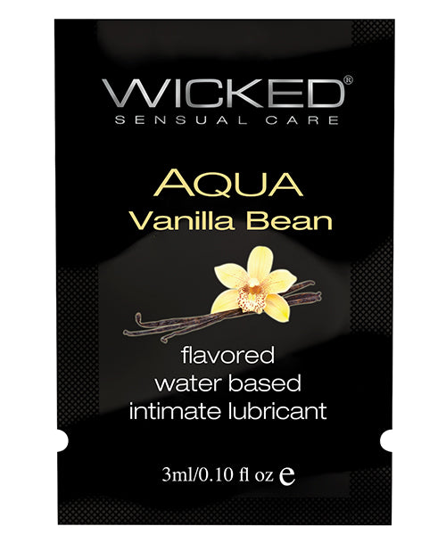 Wicked Sensual Care Waterbased Lubricant - .1 Oz Vanilla Bean - Casual Toys