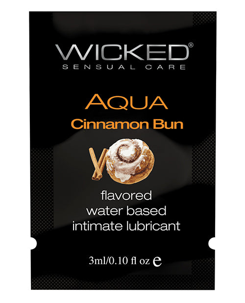 Wicked Sensual Care Aqua Water Based Lubricant - .1 Oz Cinnamon Bun - Casual Toys