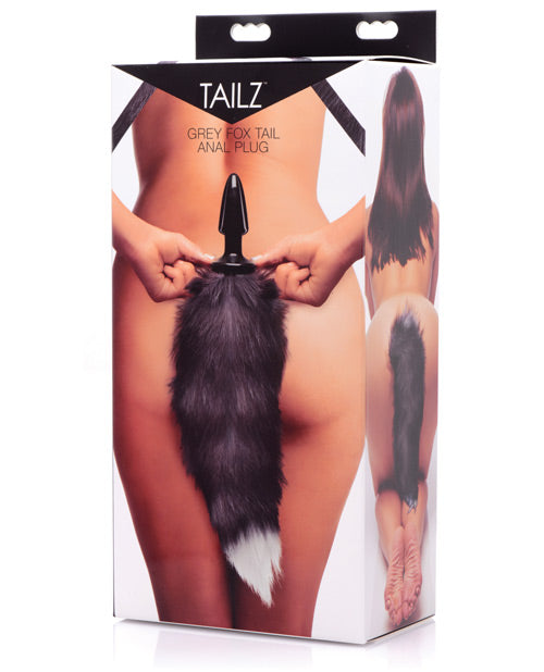 Tailz Grey Fox Tail Anal Plug