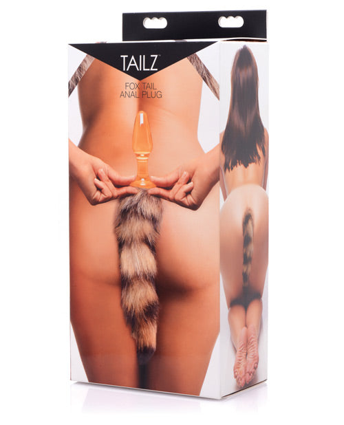 Tailz Fox Tail Glass Anal Plug - Casual Toys