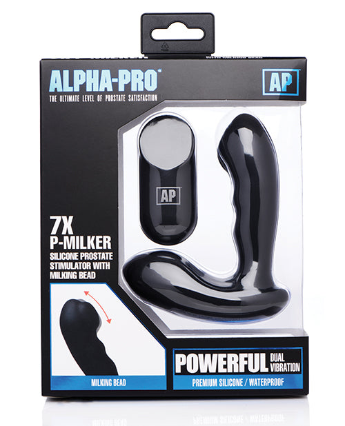 Alpha Pro 7x P-milker Prostate Stimulator W-milking Bead - Black - Casual Toys