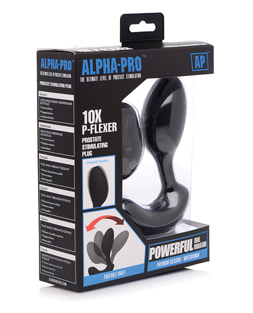 Alpha-pro 10x P-flexer Prostate Massager W-remote - Casual Toys